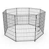 Pet Playpen Dog Dence Exercise Pen, 8 Panel Pet Dog Playpen Puppy Enclosure