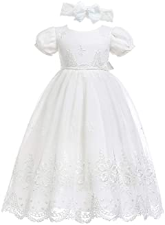 Christening Gown Baptism Dress Baby Dress Catholic Dress ADJ004 Baptism Cotton Dress Asymmetrical Banner Gown Christening Gown