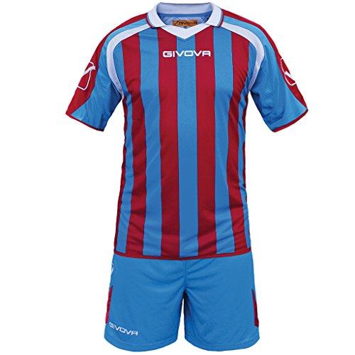 Givova Supporter, Kit Calcio Unisex - Adulto, Multicolore (Royal/Rosso), L