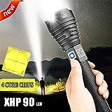 NAMINA 160000LM Most Powerful XHP90 LED Flashlight Brightest Zoom Torch XHP70 USB