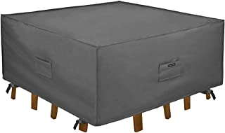 Patio Watcher Patio Furniture Cover Durable and Water Resistant Outdoor Furniture Sets Cover with Secure Buckle Straps, Gr...