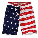 Julhold Boy Kid Kinder Bademode Freizeit 4. Juli Badehose mit amerikanischer Flagge Badehose USA Badehose 4-19 Jahre Neu