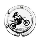 Piloto participante del Campeonato de Motocross Silueta Imagen Deportes peligrosos Personalizado Varios diseños patrón Bolso de Hombro Bolso Plegable