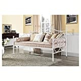 Daybed, Twin White Metal Daybed with Scrolling Final Detailing - 400 lb Weight Limit