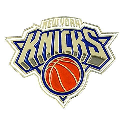 NBA New York Knicks Basketball-Anstecknadel Design (Einheitsgröße) (Gold/Blau/Orange)