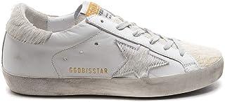 [ゴールデングース] GGDB [GOLDEN GOOSE DELUXE BRAND] レディース スーパースター ローカット HORSY STAR スニーカーレザー WHITE SILVER [並行輸入品]