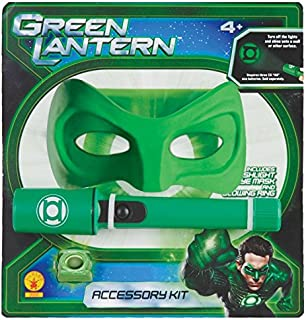 Rubies Green Lantern Accessories Kit - Flashlight With Green Bulb, Mask And Ring