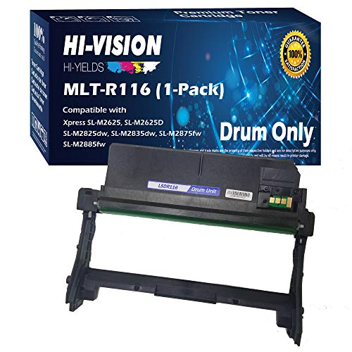 HI-Vision Compatible MLT-R116 Drum Unit Replacement for Samsung MLTR116 R116 to use with Xpress M2885FW M2835DW M2825FD M2875FW M2875FD M2625D Laser Printers (1 Drum)