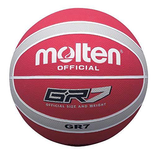 Molten Basketball, Größe 6, Rot/Weiß/silberfarben