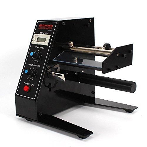 Dispensador automático de etiquetas, papel de etiquetas ajustable con pantalla LED, máx. Ancho: 140 mm. Longitud: 150 mm.
