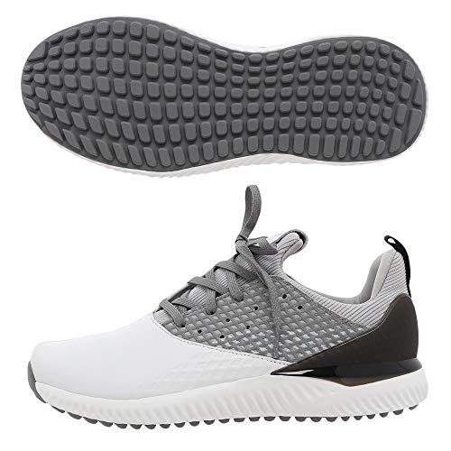 ADIDAS Adicross Bounce 4, Zapatillas de Golf para Hombre, Blanco (Blanco/Plata F35409), 40 2/3 EU