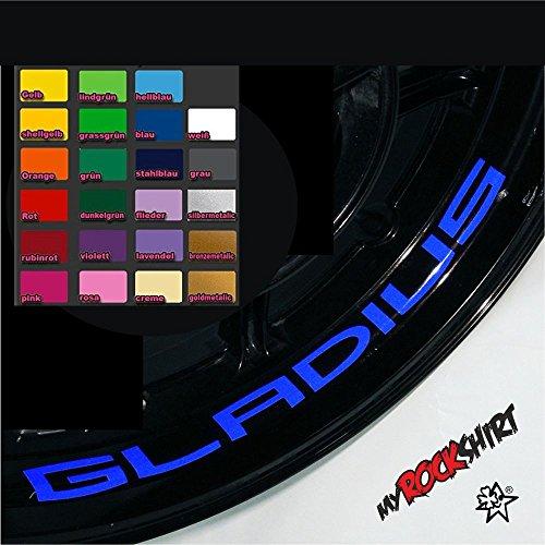 myrockshirt 4X Suzuki Gladius Felgen-Innenrand-Aufkleber Felgenrandaufkleber Innrandaufkleber Motorrad Bike Tuning Sticker Aufkleber