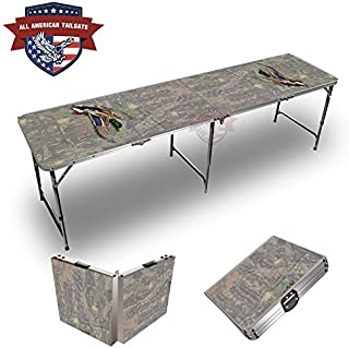 Mallard Camo Theme 8 Foot Folding Tailgate Table