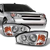 AKKON - For Chevy Malibu OE Replacement Chrome Bezel Headlights Driver/Passenger Head Lamps Pair New
