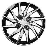 NOLITOY - Copricerchi per auto, 14 pollici, per coprimozzo auto (argento)