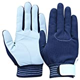 ユアサグローブ 忍 甲メリ本革手袋 Mサイズ 5双入 C660W/NV-M