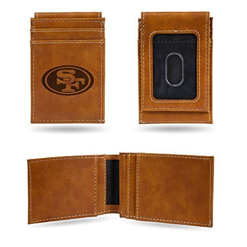 NFL Rico Industries Laser Engraved Front Pocket Wallet, San Francisco 49ers