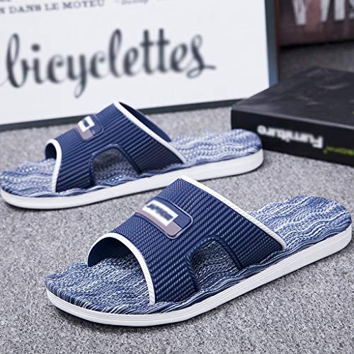 Zapatos de Playa y Piscina Luz del hogar de verano de masaje deslizadores de los hombres de cubierta inferior suave de gran tamaño de baño extra grandes sandalias y zapatillas for hombre Sandalias de