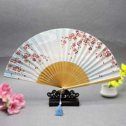 うちわ 古代のスタイル扇子和風アクセサリー女性ファン桜ファン桜川小型ファン (Color : B, Size : Two)