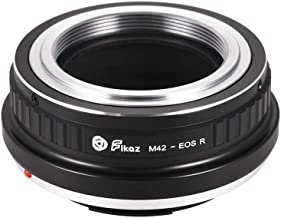 High Precision Lens Mount Adapter Ring Aluminum Alloy compatible with M42-Mount Lens to Canon EOS R/RP RF-Mount Mirrorless Camera M42-EOSR