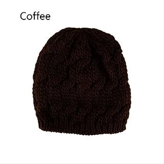 MZHHAOAN Women Acrylic Knitted Baggy Hat Crochet Braided Skull Cap Ski Beanie Autumn Winter Warm Hat