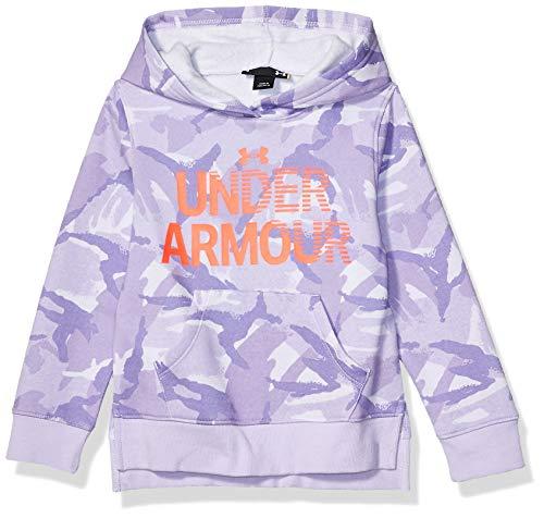 Under Armour Sudadera con capucha para niña con logotipo de U - morado - 6X
