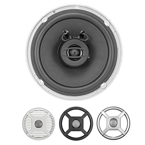 Jensen MS650RTL 6.5  Coaxial LED Lighted Speakers - Silver Black W. [MS650RTL]