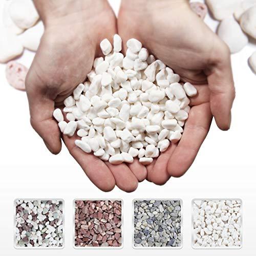 Willowy White Decorative Rocks - 10-20 mm - 5lb Bag