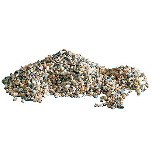 AMTRA POLICROMO, ghiaia naturale per acquari, terreno decorativo, sabbia e ghiaia bianca, grani 3-4 mm, 2 KG