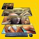 Mousepad zum Selbst Gestalten Gaming XXL mit Eigenem Bild Gummi rutschfest Personalisiert Mouspad Foto Bedrucken für Computer PC Laptop Lustiges Geschenk für Gamer Computerfans