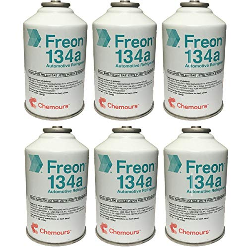 Chemours Brand Automotive Freon R134a Refrigerant - 12oz Can (6)