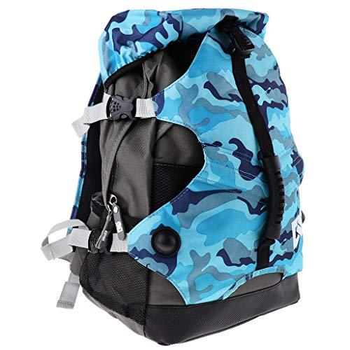 DAJIANG Roller Skates Backpack Inline Skates Skating Shoes Boots Carry Bag Ice Skates Storage Knapsack Outdoor Sports Bags For Men Women Blue