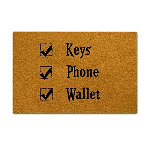 Sleutels Telefoon En Portemonnee Grappig Ontwerp Binnen/Outdoor Deurmat Anti-slip Machine-wasbaar Home Decor 15.7x23.6inches,40x60cm