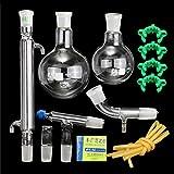 BQSWYD 500ml 24/40 Destilación Aparato Laboratorio de Química cristalería del Kit del Lab de Química de Cristal Destilación Suministros Aparato para destilación de Agua y Aceite Puro Esencial