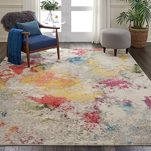 Marca de Amazon - Movian Dospat, alfombra redonda, 238,8 x 238,8 cm (diseño geométrico)