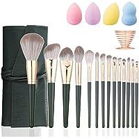 14-Pieces Sdvjlkv Synthetic Makeup Brushes + 4 Sponges + 1 Sponge Holder