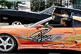 Paul Walker Autograph Replica Super Print - Fast and Furious - Landscape - Unframed