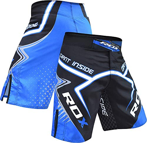 RDX MMA Shorts Training | Perfekt für Boxen, Kampfsport, Freefight, Grappling, Kickboxen | Fightshorts Kickboxen Kampfshorts für BJJ und Muay Thai (MEHRWEG)