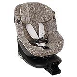 UKJE Fundas de asiento de coche algodón Oeko-Tex Maxi-Cosi Mica hasta 4 años para mantener el asiento de coche de bebé limpio, reducir la sudoración color leopardo