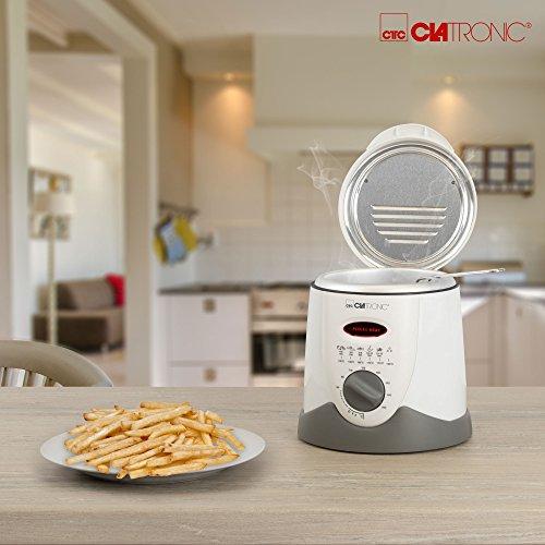 Clatronic FFR 2916 Mini-Fritteuse mit Fondue 09l 840 W weiß-beige - 2