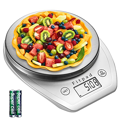 キッチンスケール Fitpad はかり 高精度 デジタルスケール 計量器 キッチンはかり 料理 クッキングスケール 0.1g単位 5kg 風袋引き ミルク水 計量 ml単位 デジタルスケール 測り キッチン/料理/お菓子