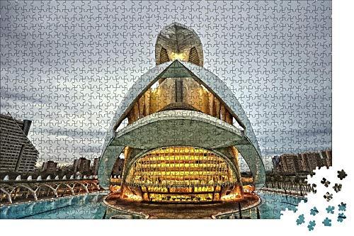 zhangshifa Puzzles 1000 Pieces,Valencia España Ciudad Rompecabezas De Naturales,Juego De Jigsaws Puzzles para Niños Adultos-75 * 50Cm(Puzzle De Pintura)
