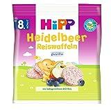 HiPP Heidelbeer Reiswaffeln, ab dem 8. Monat, 7er Pack (7 x 30 g) -