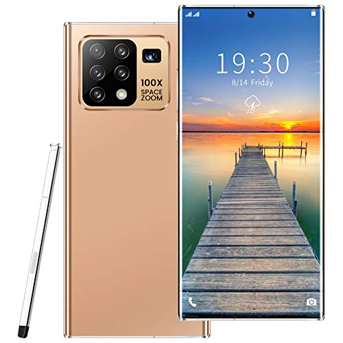 DZSWDTQ 6.8 inches perforated screen Smart phone, Curved Screen 4G unlock smart phone, 4+64G,face recognition,10-core processor