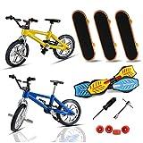 Mini Finger Skateboards Und Finger Fahrräder Spielzeug Mit Ersatzrädern Und Werkzeugen, Mini Finger Sport Skateboards Und Fahrräder Für Geburtstagsfeierbevorzugungen Als Geschenke Für Kinder Erwachsen