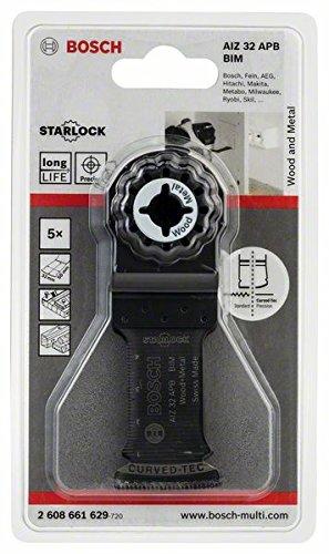 Bosch Professional Tauchsägeblatt (Holz und Metall 5 Stück, für Multifunktionswerkzeuge Starlock) AIZ 32 APB