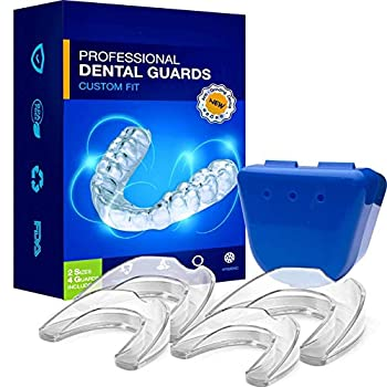 Neomen Professional Dental Guard - 2 Sizes Pack of 4 - Upgraded Mouth Guard For Teeth Grinding Anti Grinding Dental Night Guard Stops Bruxism Tmj & Eliminates Teeth Clenching 100% Satisfaction