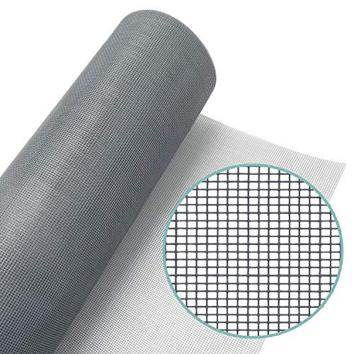 Lazy Dog Warehouse Window Screen Mesh Roll 48in x 100ft – Fiberglass Screen Replacement Mesh for DIY Projects (Grey Mesh)