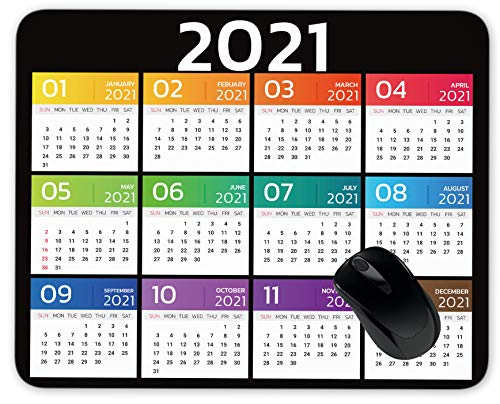 2021 Calendar Year Mouse Pad Gaming Mouse Pad Mousepad Nonslip Rubber Backing
