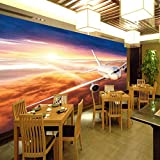 Fotomural 3D Sol De Aeroplano Papel Pintado Decoración De Pared Murales Pegatina 3D Moderna De Diseno Fotográfico Cambia Estilo De Habitación 400X280Cm